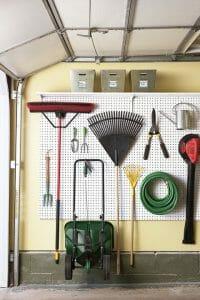 garage storage ideas pegboard tool organizer