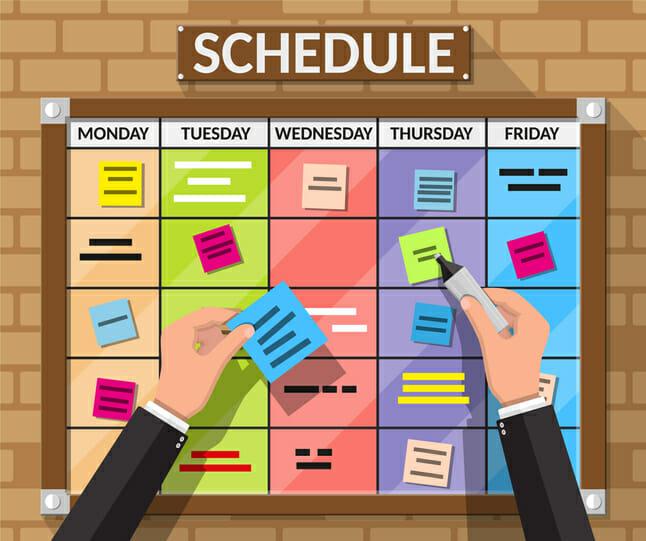 scheduling home maintenance plan tasks