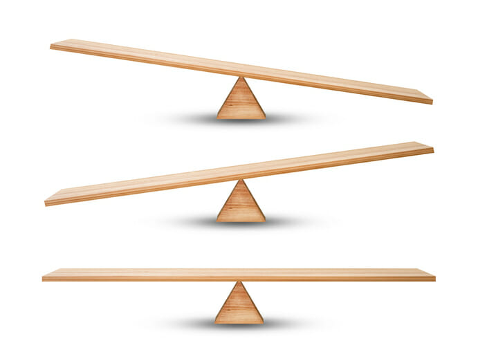seesaw balanced and unbalanced